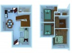 AHNorth-Phase1-EndUnit-Hana-Floorplan3D